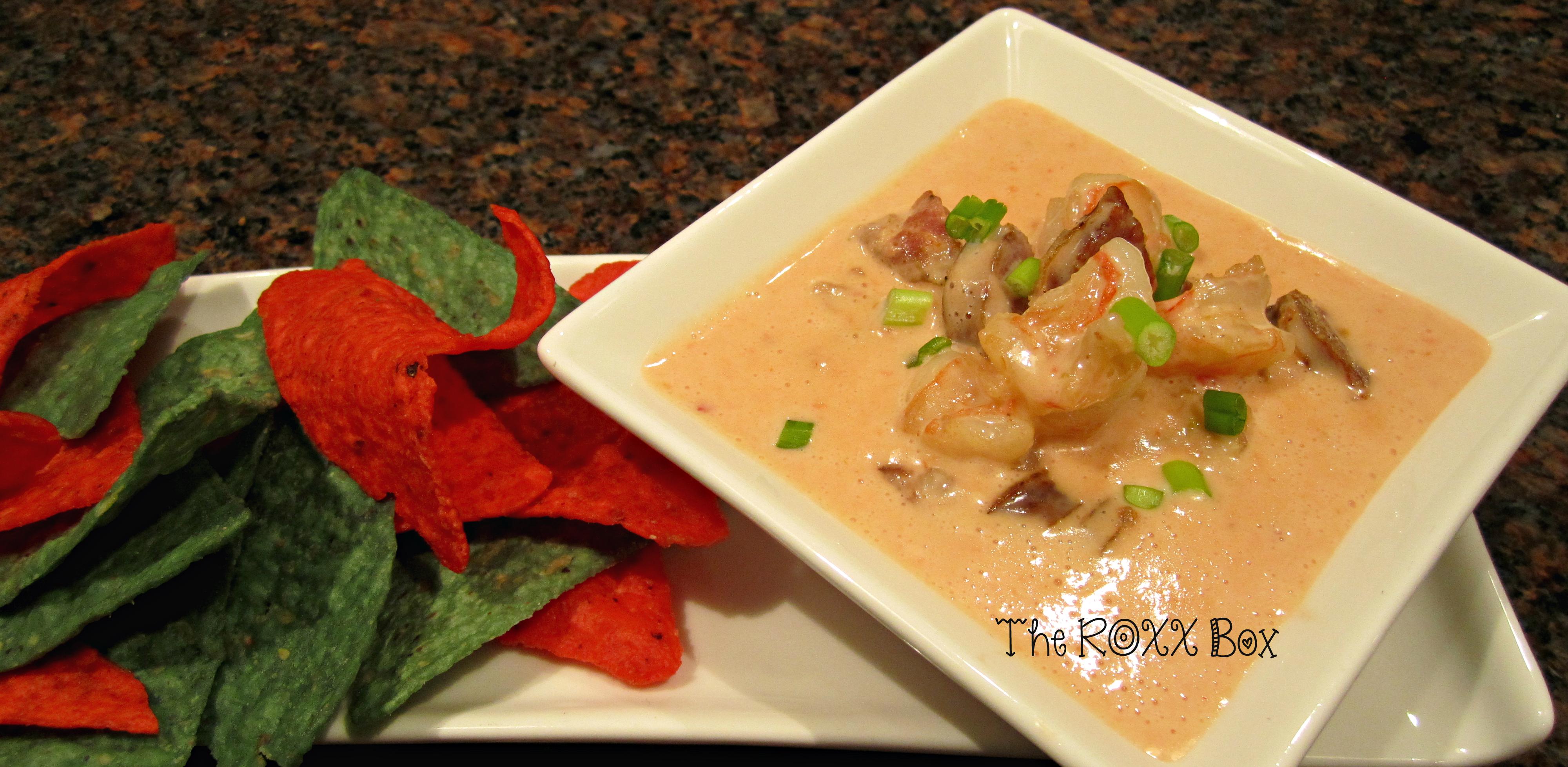 Roxanne's Shrimp & Andouille Sausage Queso Dip