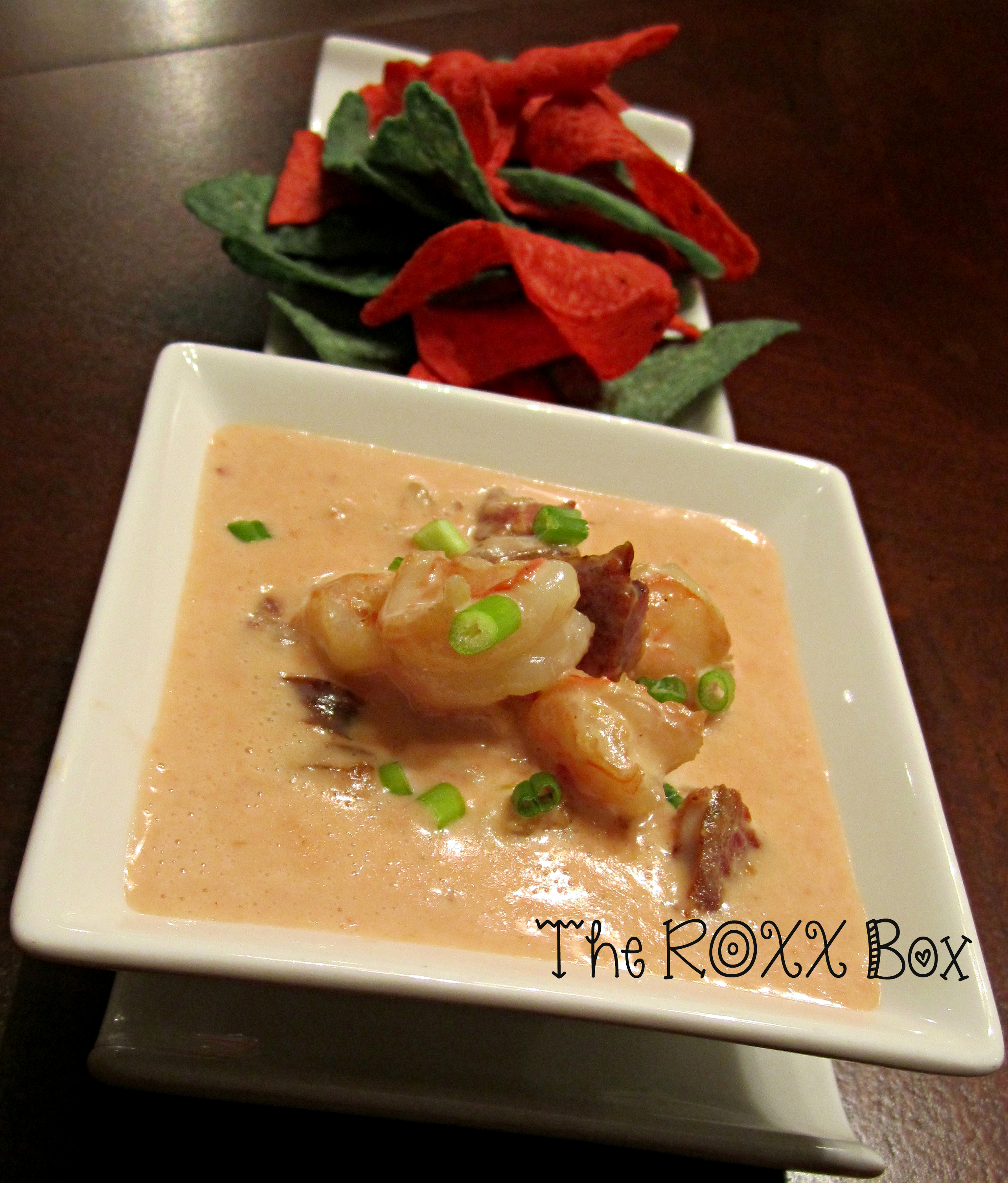 Roxanne's Shrimp & Andouille Sausage Queso Dip #SundaySupper