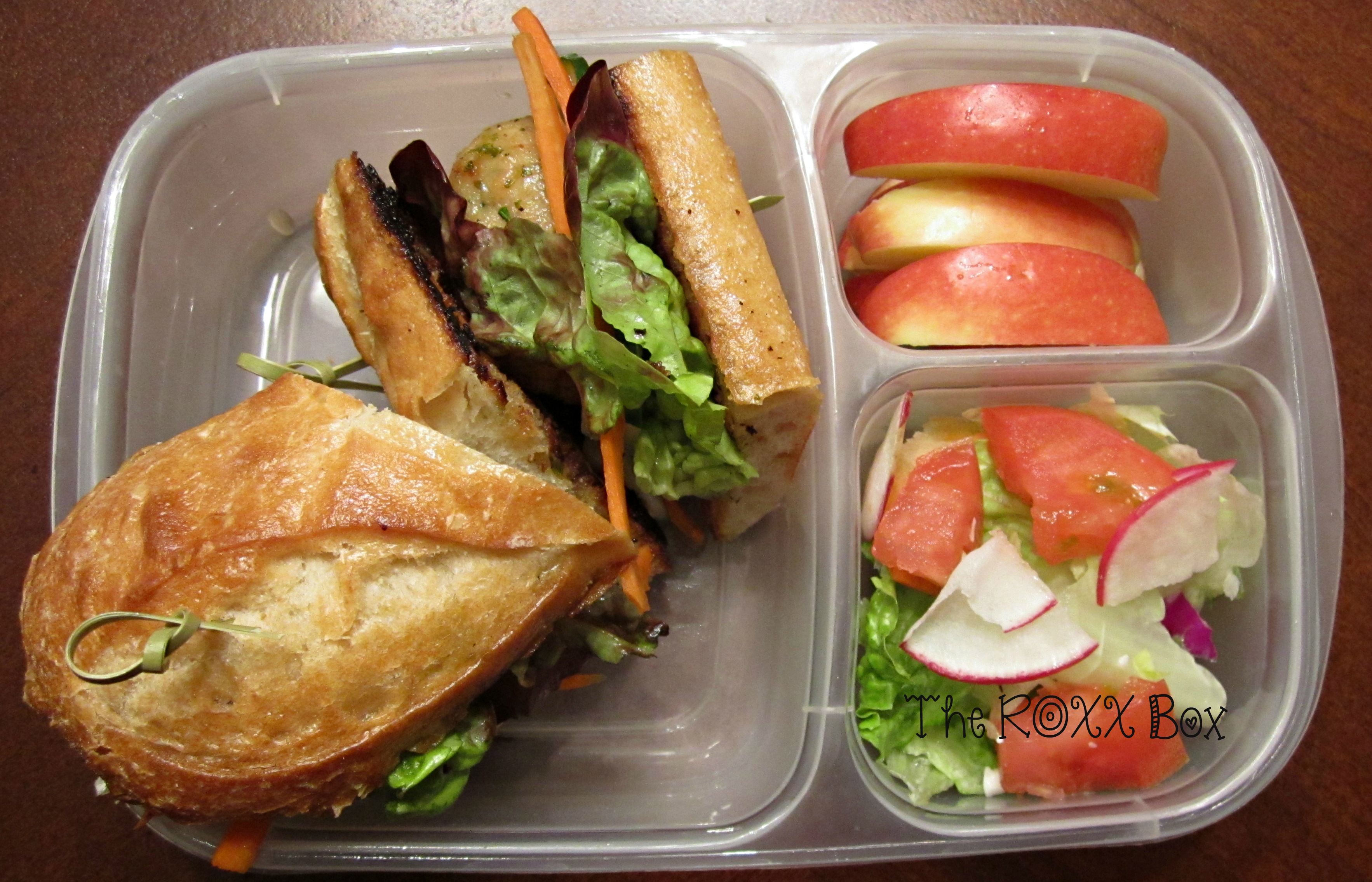 Sugar Glazed Chicken Meatball Sandwich in Easy Lunchbox